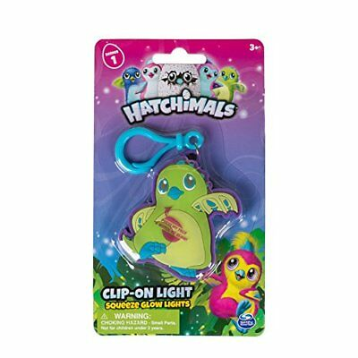Hatchimals Clip On Squeeze Glow Light, 2.75 inches - Green