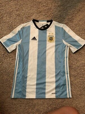 New Adidas Youth Climacool Argentina Blue/white Soccer Jersey Sz XL