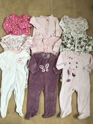 Girls Sleepsuit Bundle Age 3-6 Months