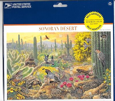 SONORAN DESERT US Stamp sheet of 10x 33c  SC#3293 - USPS SEALED