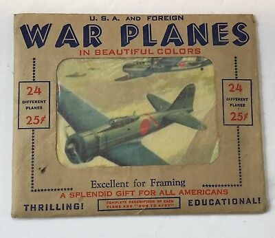 Home Front Item:  Color Prints USA & Foreign War Planes