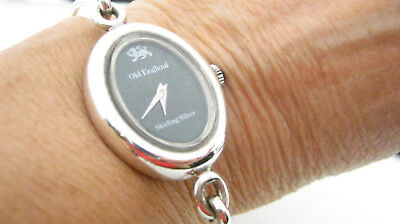Vintage Old England Sterling Silver 925 Bangle Watch - Working - H/Mkd 1974
