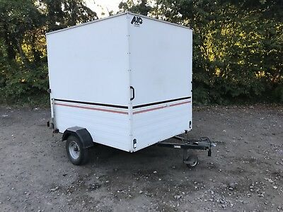 AJC Box Trailer Single Axle Unbraked Lock Up Motorcross Workshop Tow A Van Quad