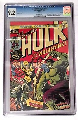 Incredible Hulk #181 Euro Variant – 9.2 CGC - STAN LEE! - 1ST APP. WOLVERINE!