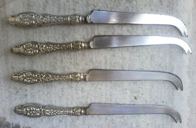 4 Vintage Cheese Knives Greenleaf & Crosby Est. 1868 Palm Beach & back in style