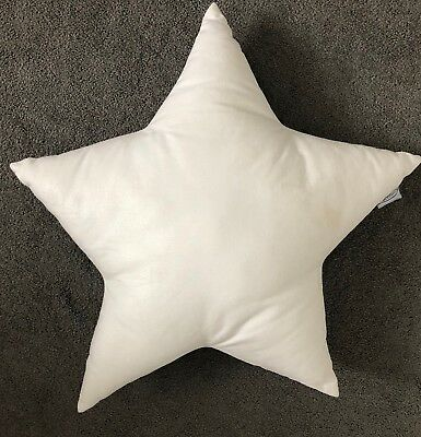 Cotton & Sweets White Shimmer Star Pillow - 44cm - Immaculate Condition
