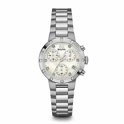 Bulova 96R202 Women's Chronograph Mother of Pearl Quartz Watch