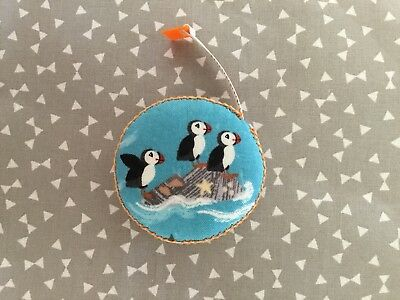 Puffin Fabric Retractable Tape Measure Sewing Knitting Teachers Present