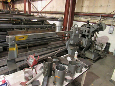 "100 Ton Rogers Wheel Forcing Press Inclined Horizontal Hydraulic 48"" x 120"""