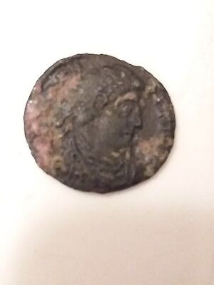 One Authentic Ancient Bronze Roman Coin, Rare coin from 240 - 410 AD