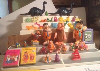 Huge Vintage Flintstones Lot Collection Fred Barney Dino Wilma Betty book toys