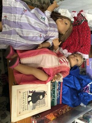 2x American Girl Doll. Needs TLC Good For Parts or Repair Books Clothes Lot
