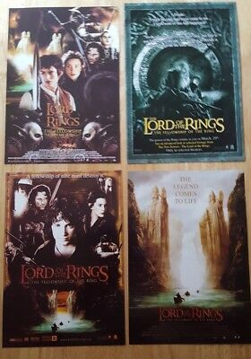 4 Lord Of The Rings Fellowship Of The Ring Showcase Cinema Flyers 2001