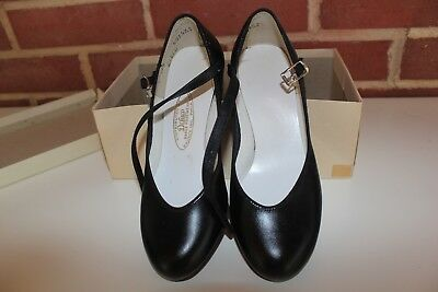 DeLuco Black Character Dance Shoe Size 3