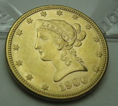 $10 Gold Liberty Eagle Coin  1906-D   Free shipping                          207