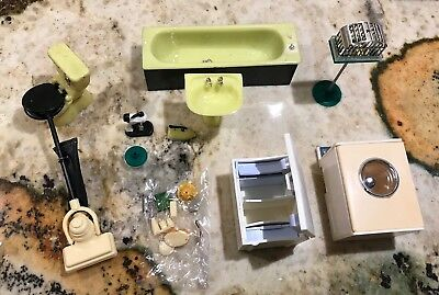 Vintage Lot Of Doll House Furniture & Appliances Miniature Made In England