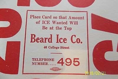 2 WINDOW**original**ICE HOME DELIVERY SIGNS=BEARD ICE CO.DANVILLE,IL. PHONE #495