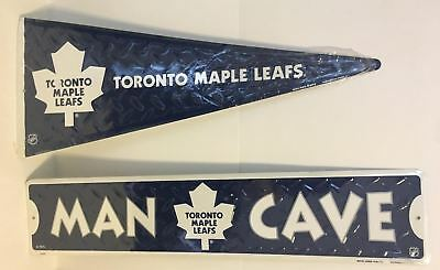 Toronto Maple Leafs Metal Pennant and Man Cave Sign - Official NHL Merch