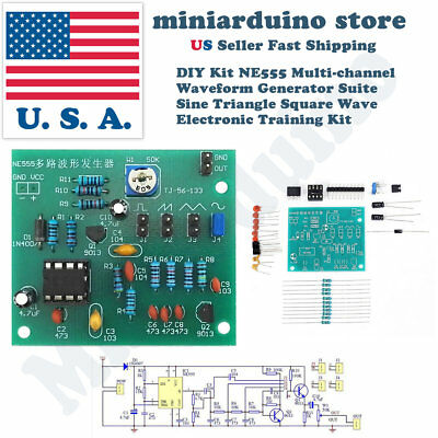 Multi-Channel NE555 Waveform Generator Module Sine Triangle Square Wave DIY kit