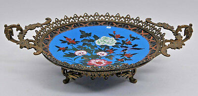 Antique French Ormolu-Mounted Japanese Cloisonné Centerpiece,19th Century