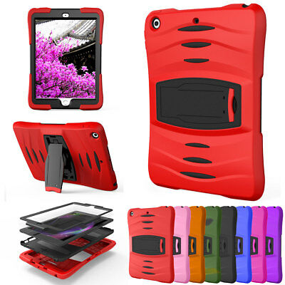 Shockproof Rubber Case with Screen Protector For Apple iPad 9.7 2018 6th Gen