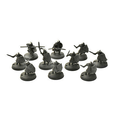 LOTR 10 warriors of numenor (3 METAL with spears) Games Workshop miniatures