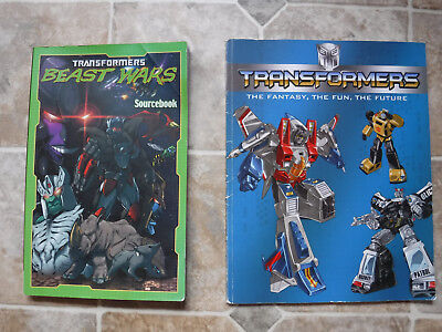 Transformers Beast Wars Sourcebook & The Fantasy The Fun The Future book lot