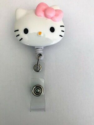 "Hello Kitty ""Romantic"" Badge Holder Retractable Clip Lanyard with Name Badge"