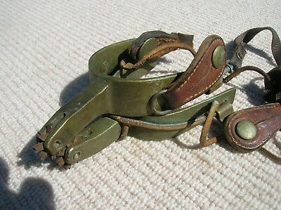 Star Steel Silver  pair of vintage cowboy spurs, used ,Old Roust- A- Bout WORN