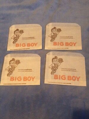 Vintage BIG BOY RESTAURANT Paper Bag 1980s Bundle Of 4