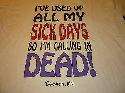 Branson, MO. / Sick Days Vintage Shirt ( Used Size L ) Very Nice Condition!!!