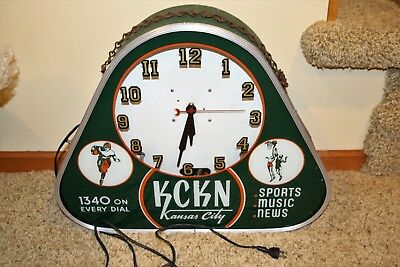 Neon Products KCKN Radio Station Clock