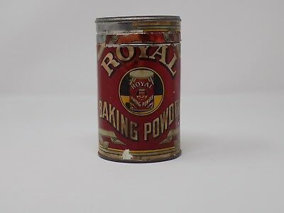 Antique Royal Baking Powder Tin with Paper Label Original Manufactured By Royal