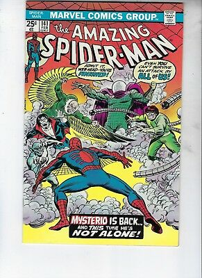 "Amazing Spider-Man 141, VF+, ""Mysterio Is Back"""