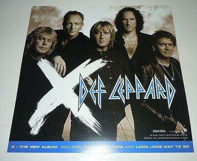 DEF LEPPARD~X~Original Promo Poster Flat~Double Sided~12x12~NM Condition~2002~X~