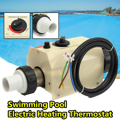 2KW 220V Swimming Pool & Bath SPA Hottub Electric Water Heater Thermostat
