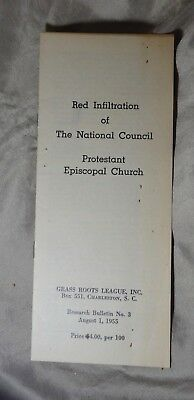 Red Infiltration Segregation Pamphlet Grass Roots League Charleston SC