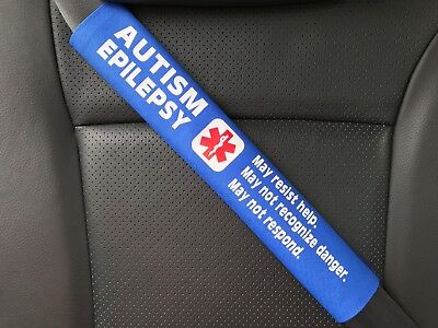 Autism Epilepsy Medical Alert Seat Belt Safety Cover Special Needs