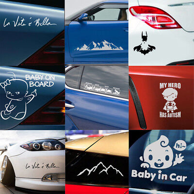 Car Sticker Lowered Truck Boat Window Bumper Vinyl Decal Waterproof Universal