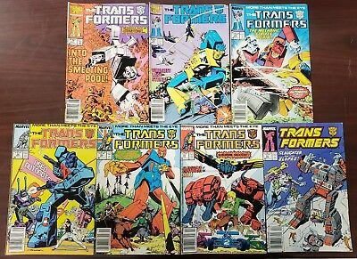 Transformers 4 issue lot, Marvel run 16, 17, 28, 32, 33, 37, 51 All F+ to VF