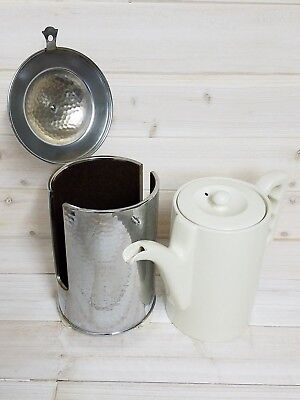Thermisol Bauscher Lizenz ~ Insulated Coffee Tea Pot Thermos Hammered Porcelain
