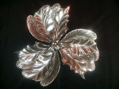 Antique Silverplate International Silver Co./Handle/3Leaf/Decorative Candy Dish