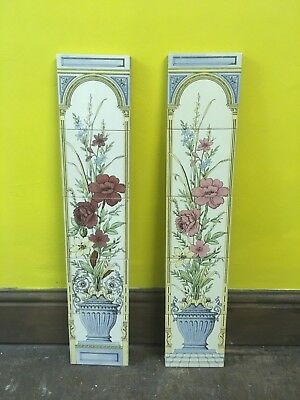Stovax VICTORIAN STYLE Fireplace Tiles, Set of 10 - Flower design British Made