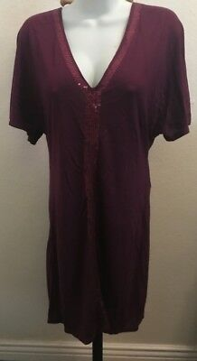 Armani Exchange AX dress med sequin berry NWT
