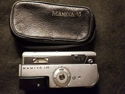 Mamiya 16  EE Automatic De Luxe - For Diplomatic Pouch - w/Lthr. Case
