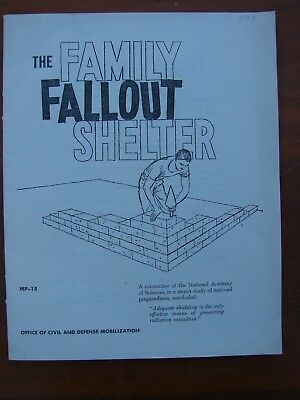 1959 Cold War Booklet MP-15 The Family Fallout Shelter, Construction Designs.