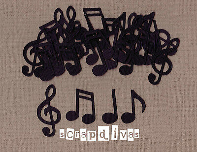 Scrapbooking - MUSIC NOTE Die Cuts - Cardstock x 30