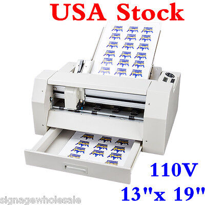 "USA! 110V A3+ 13""x19"" Sheet Cutting Machine, Sheet to Sheet Color Lable Cutter"