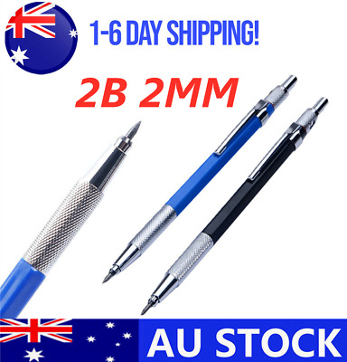 Refillable Auto Pencil Mechanical For Drawing Drafting With12pcs 2MM 2B Leads