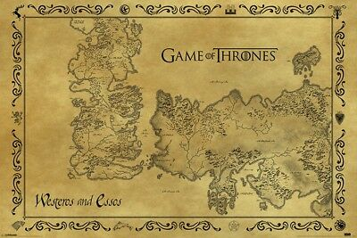 New Maxi Poster Game Of Thrones Westeros And Essos Map (73)